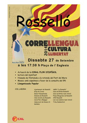 CORRELLENGUA 2014 A ROSSELLÓ