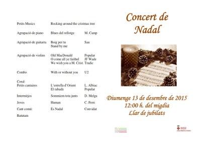 Programa concert de Nadal