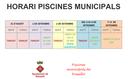 HORARI PISCINES MUNICIPALS. FINALS D'AGOST I SETEMBRE DE 2019